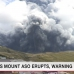 Japan's Mount Aso erupts, warning issued